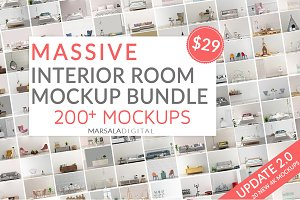 MASSIVE Interior Room Mockup Bundle