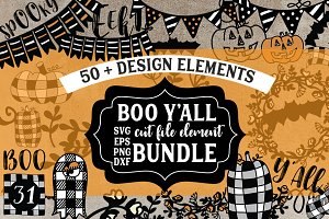 Boo Y'All Cut file Element Bundle