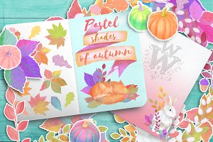 Pastel shades of autumn