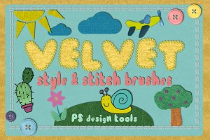 Velvet STYLES & STITCH BRUSHES PS