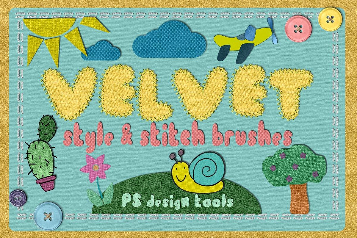 Velvet STYLES & STITCH BRUSHES PS