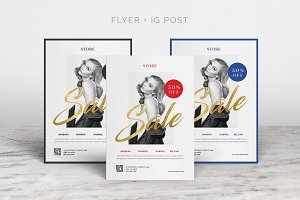 Fashion Sale Flyer + Instagram