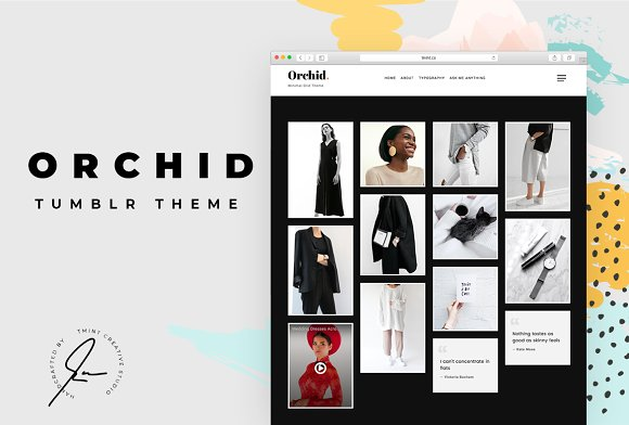 Orchid Tumblr Theme
