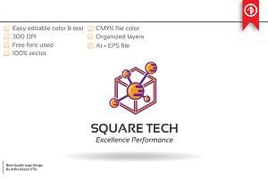 Atom Technology Logo Template