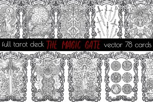 The Magic Gate Tarot Deck vector