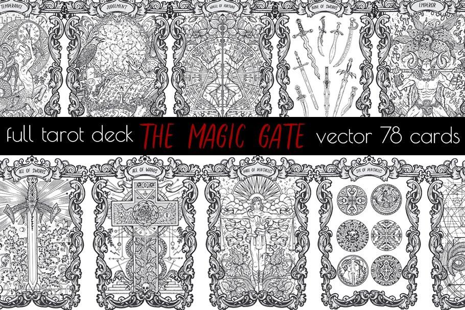 The Magic Gate Tarot Deck vector ~ Illustrations ~ Creative