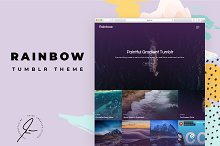 Rainbow Tumblr Themes by  in Themes