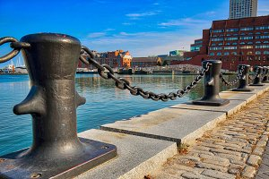Famous Boston Harbor and city views