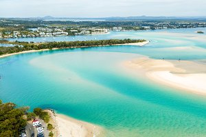 Aerial view of the Noosa River