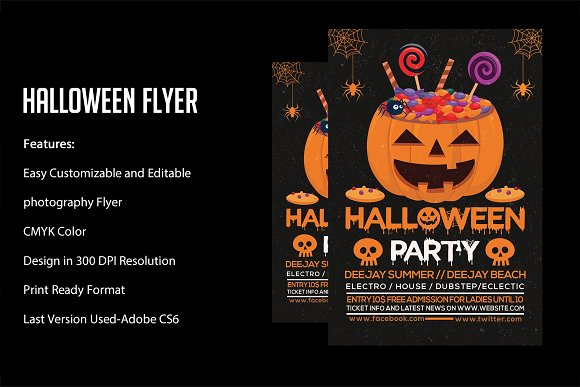 halloween flyer flyers