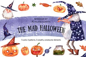 The Mad Halloween - Watercolor Set