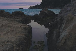 Seascape in Costa bravas