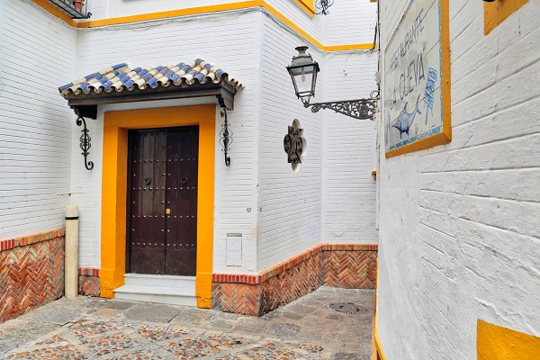 Architecture Stock Photos: Web Engine Design - Old town streets in Seville