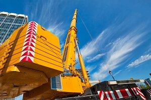 Mobile crane at work