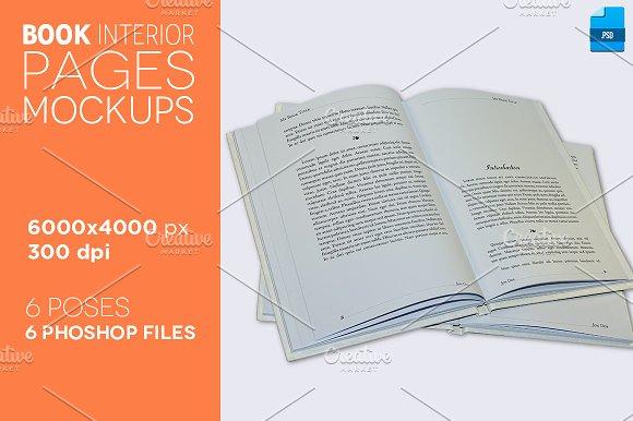 6 Book Interior Pages Mockups v.2