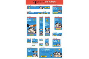 Standard size web banners - Real