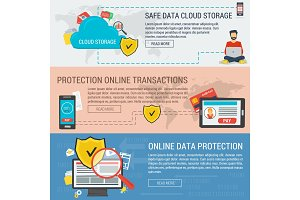 Three banners data protection