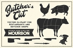 Butcher's Cut Vector Clipart Bundle