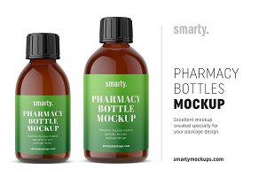 Pharmacy bottle mockups