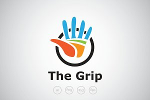 Hand Grip Logo Template