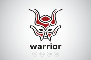 Warrior Mask Logo Template