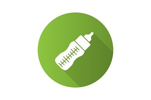 Baby feeding bottle icon