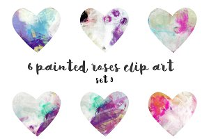Painted hearts set 3