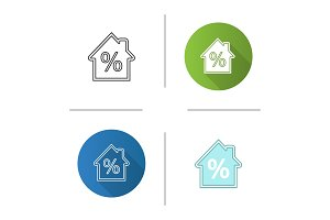 Mortgage interest rate icon