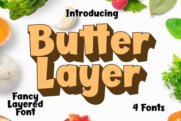 Butter Layer - 4 Fonts