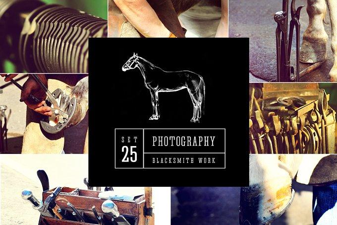 Blacksmith work. Set of 25 photos - Animals