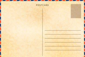 Retro blank postcard template