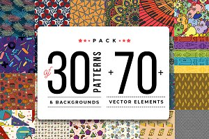 Pack Of 30+ Patterns + 70+ elements