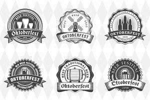 Set of Oktoberfest Badges