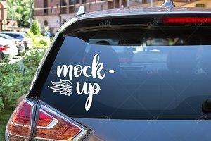 Rear Window Car Mock-up. PSD+JPG