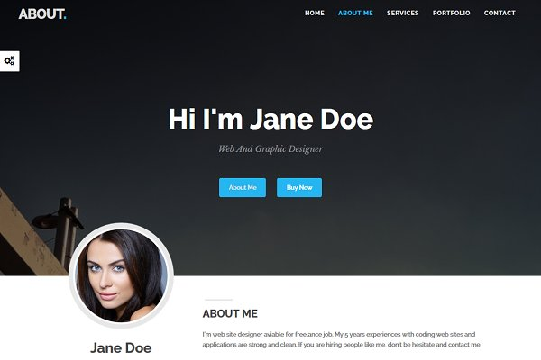 Bootstrap Themes - About - One Page Resume Portfolio