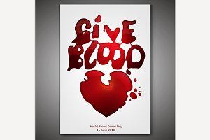 Give blood poster