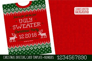 Ugly Sweater Х-mas Party Invite GR