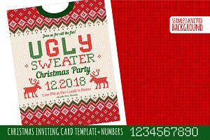 Ugly Sweater Х-mas Party Invite RW