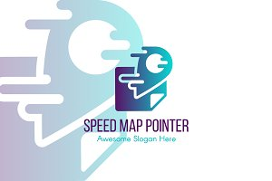 Speed Map Pointer Logo