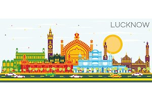 Lucknow India City Skyline