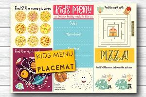 Kids Menu Placemat