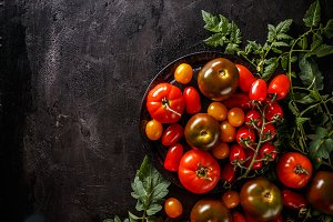 Composition of ripe tomatoes