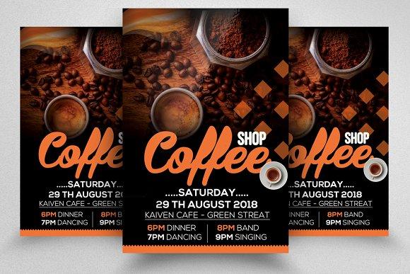 Cafe' Shop Restaurant Ad Poster