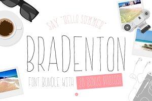 Bradenton: 2 Font/Image Bundle