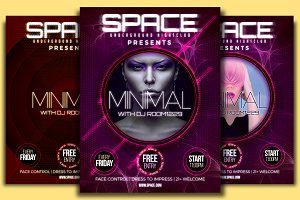 Space Minimal Flyer Template