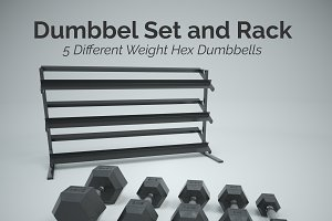 Hex Dumbbell Set and Rack