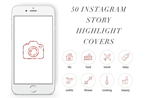 50 Instagram Stories Highlight Icons