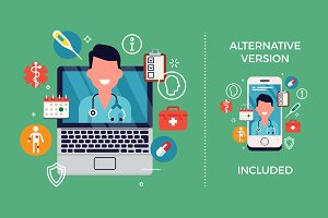 Telemedicine Graphic Elements