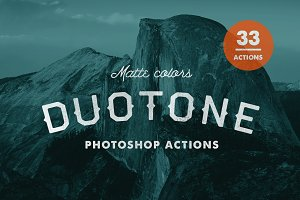 Matte Duotone Photoshop Actions