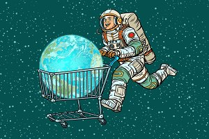 planet earth bought by astronaut